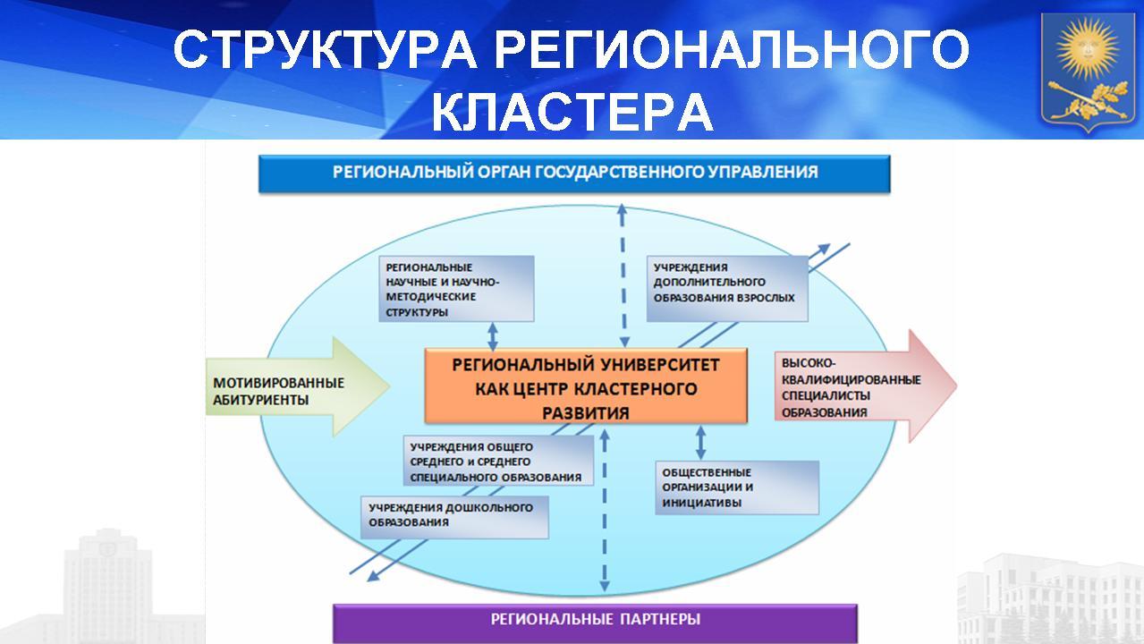 Структура регионального кластера